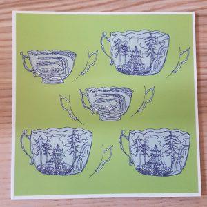 Postkarte Tassenlandschaft