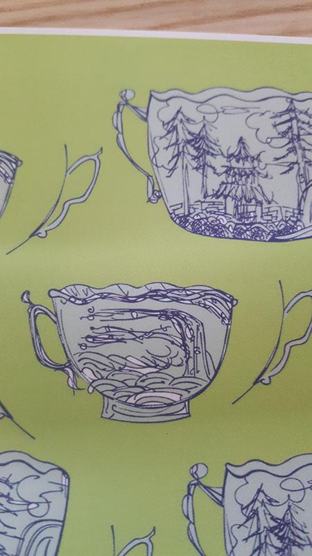 Postkarte Motiv Tassenlandschaft detail