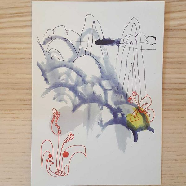 Postkarte Asien Landschaft