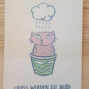 Postkarte Groß Werden Ist Blöd