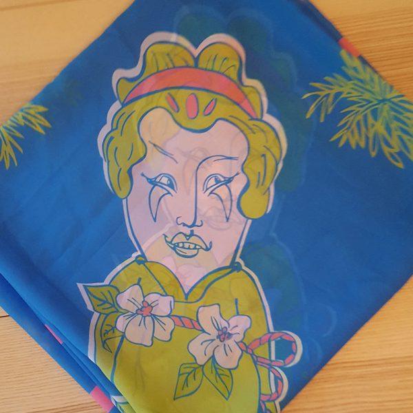 Halstuch Frau Im Palmengarten