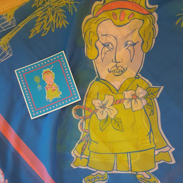 Halstuch Frau Im Palmengarten Detail