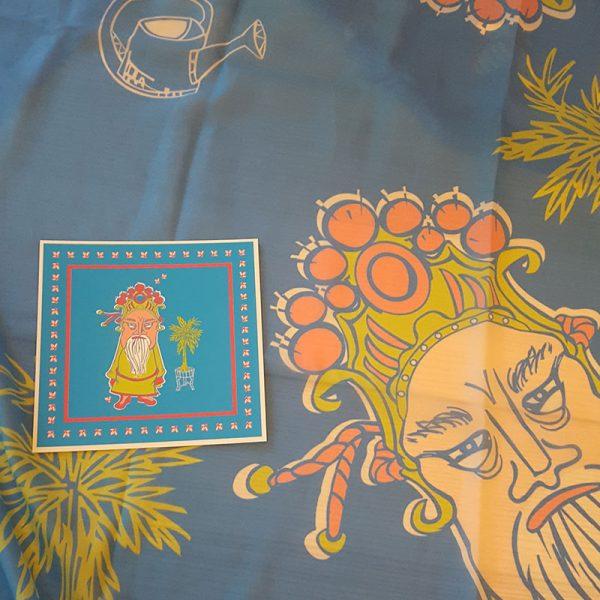 Halstuch Mann Im Palmengarten Detail