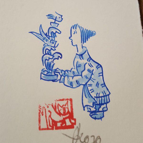 Originalzeichnung Kaskade
