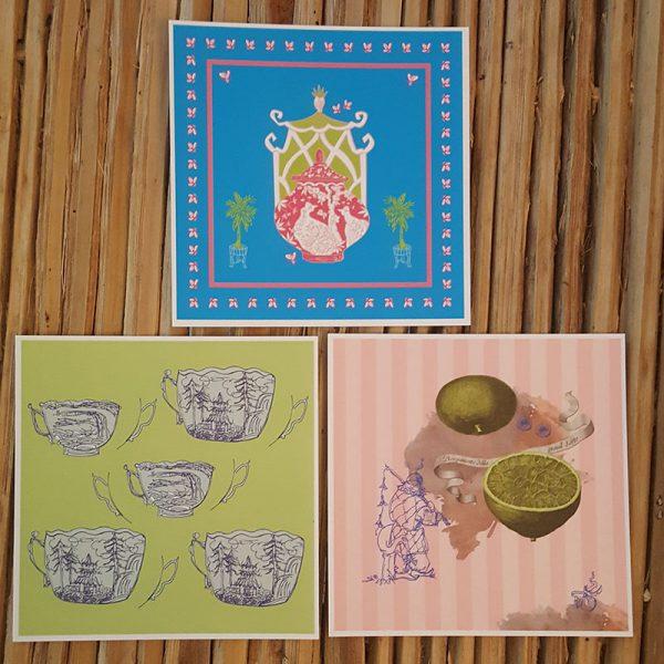 3 Postkarten im Angebot