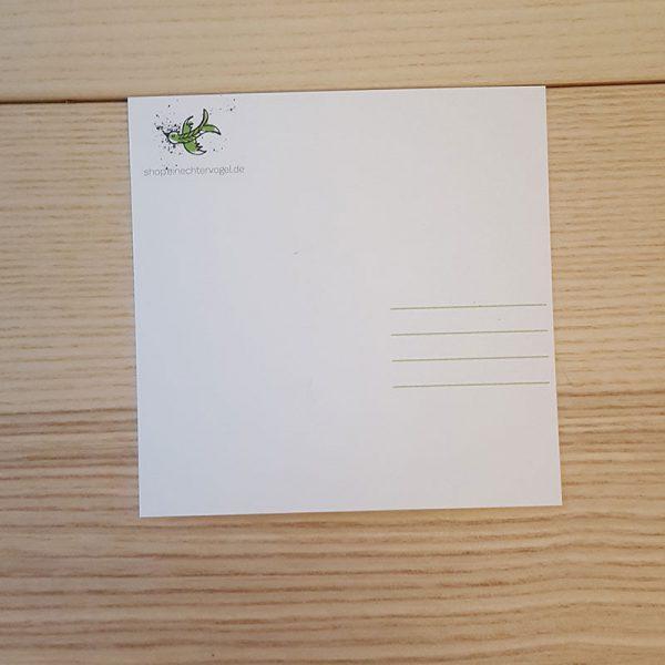 Quadratische Postkarte Rückseite